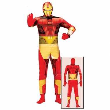 Superheld metalen man kostuum volwassenen