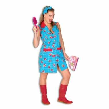 Toiletjuffrouw kostuum bloemen