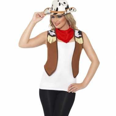 Toppers cowboy verkleed kostuum dames