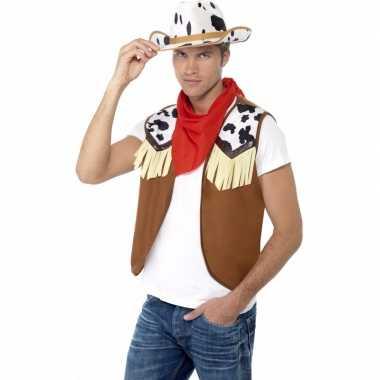 Toppers cowboy verkleed kostuum heren