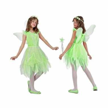 Toverfee/elfje flora verkleed kostuum/jurkje kinderen groen