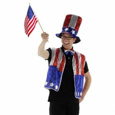 USA verkleed kostuum drie delig