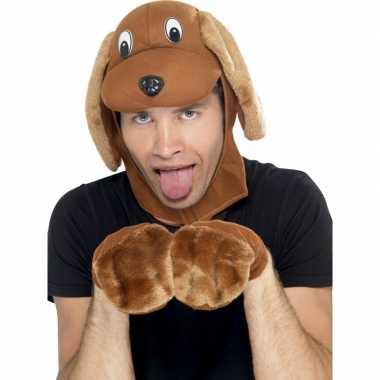 Verkleedkostuum bruine hond