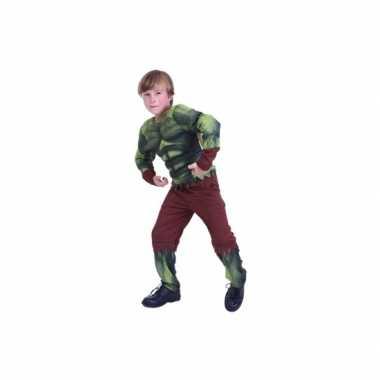 Voordelig groene superheld kostuum kinderen