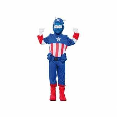 Voordelig superheld kapitein kostuum kinderen