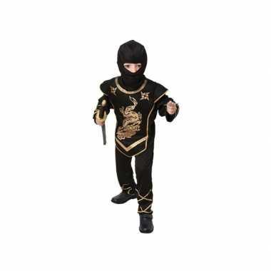 Voordelig zwarte ninja kostuum kinderen