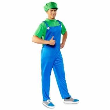 Voordelige groene loodgieter kostuum heren