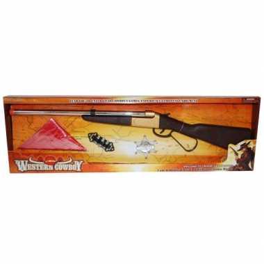 Western speelgoedkostuum geweer