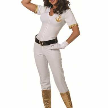 Witte kapiteins kostuum dames