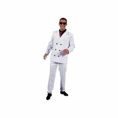 Witte maffia kostuums heren