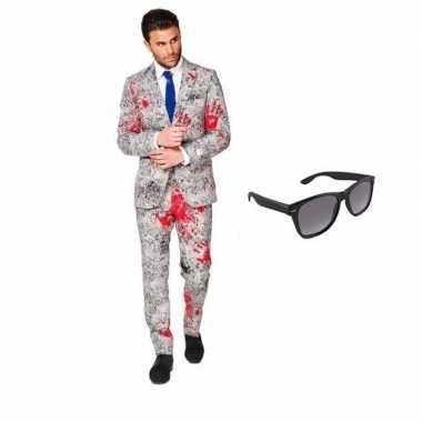 Zombie heren kostuum maat 50 (l) gratis zonnebril