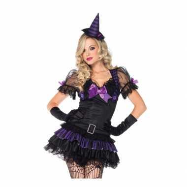 Zwart heksen kostuum hoedje