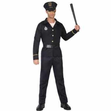 Zwart politie verkleed pak/kostuum volwassenen