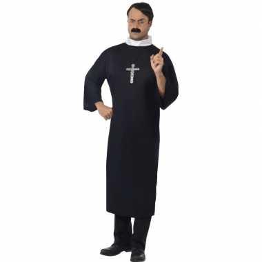 Zwart priester kostuum heren