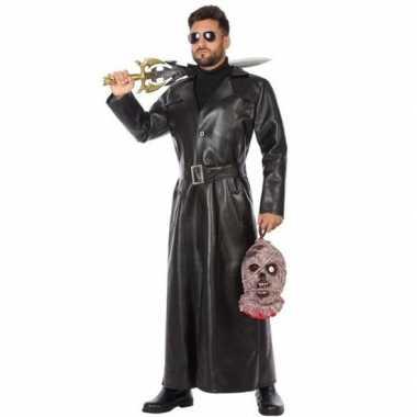 Zwart vampierjager kostuum heren