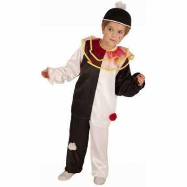Zwart wit clown kostuum kinderen