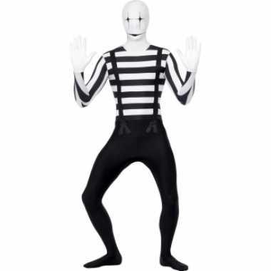 Zwart wit pak mime