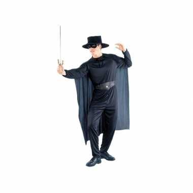 Zwarte held kostuum heren
