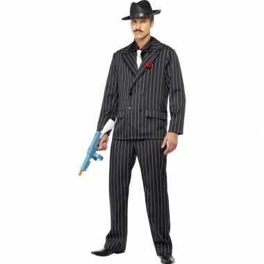 Zwarte maffia kostuums heren
