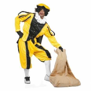 Zwarte pietenpak geel zwart