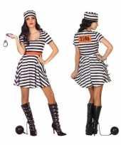 Gevangene boef bonnie verkleed kostuum jurk dames