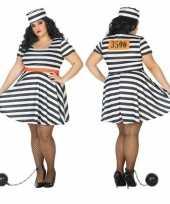 Grote maten gevangene boef bonnie verkleed kostuum dames