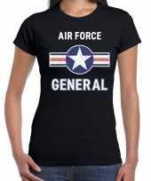 Luchtmacht air force verkleed t-shirt zwart dames
