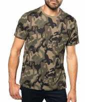 Soldaten leger kostuum camouflage shirt heren
