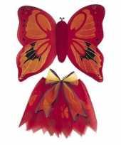 Vlinder vleugels verkleed kostuum rood kinderen