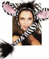 Zebra verkleed kostuumje